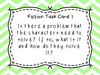 Close Reading Task Cards - Fiction