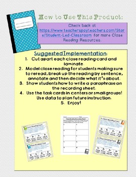 Close Reading Task Cards: Quotes from Historical Figures