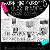 Close Reading Task Cards: The American Civil War {People o