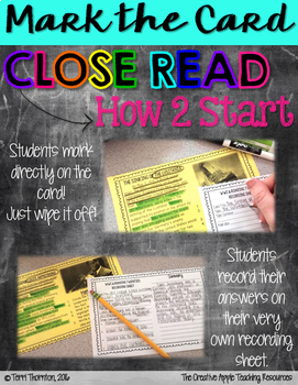 Close Reading Task Cards: The American Civil War {causes & events}