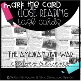 Close Reading Task Cards: The American Civil War {causes &