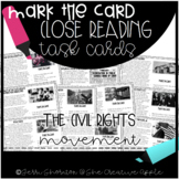 Close Reading Task Cards: The Civil Rights Movement