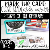 Close Reading Task Cards: Turn of the Century