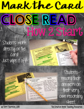 Close Reading Task Cards: World War II, Set #1