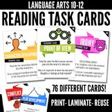 Close Reading Task Cards for High School