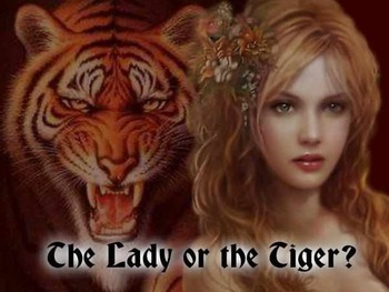 "Close Reading Task Cards with ""The Lady or the Tiger"""