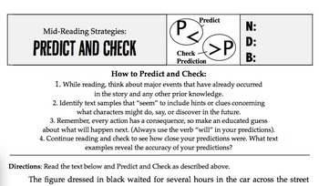 Close Reading Techniques #1: Making Predictions