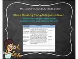 Close Reading Template Jamestown