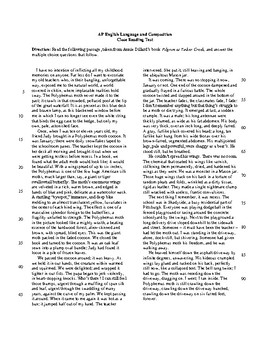 AP Close Reading Test on Annie Dillard's Polyphemus Moth