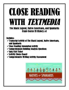 Close Reading Annotation Writing Crash Course Native Ameri