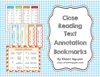 Close Reading Text Annotations Bookmarks