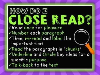 Close Reading (Nonfiction)