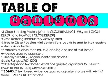 Close Reading (Nonfiction)