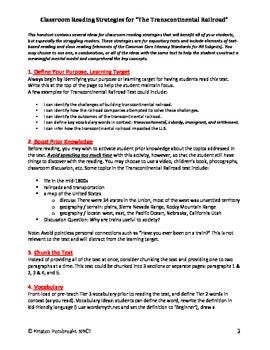 Close Reading Text Based Strategies, Grades 6-8, Struggling Reader Interventions