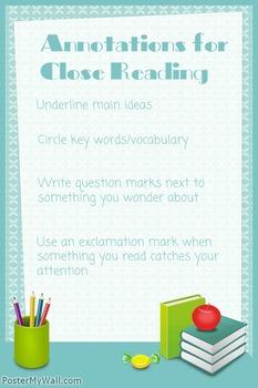 Close Reading Text Codes