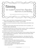 Close Reading Text Dependent Planning