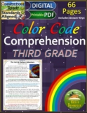Close Reading Comprehension Color-Coding 3rd Grade - Print
