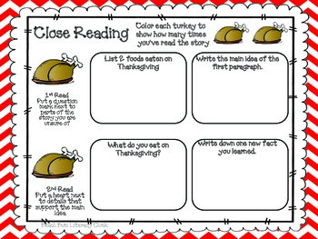 Close Reading - Thanksgiving