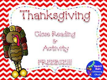 Close Reading - Thanksgiving