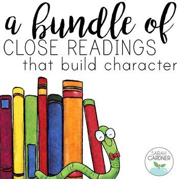Character Education Close Reading BUNDLE