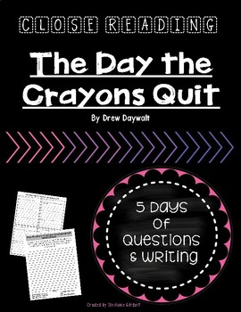 Close Reading: The Day the Crayons Quit