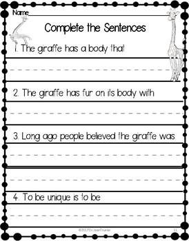 Close Reading: The Giraffe