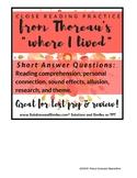 "Close Reading: Thoreau's Walden, ""Where I Lived"" Passage"