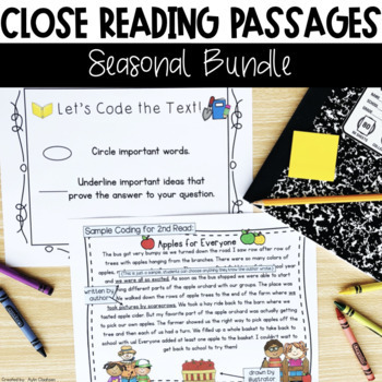 Close Reading Passages: Seasonal Bundle