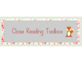 Close Reading Toolbox Poster Display (Customizable)