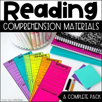 Close Reading Activities: Flipbook, Bookmarks, Posters, Anchor Charts
