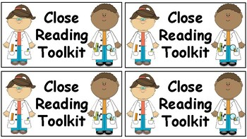 Close Reading Toolkit