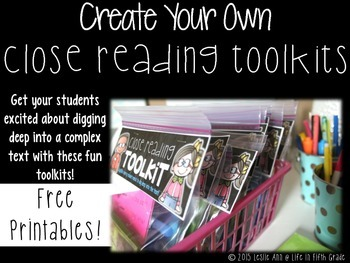 Close Reading Toolkit Printables: Create Your Own!