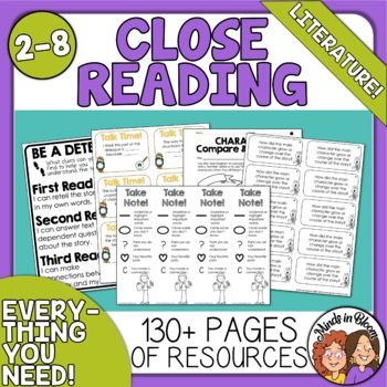 Close Reading Toolkit for Literature (Fiction)