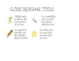 Close Reading Tools Graphic Organizer