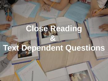 Close Reading Training Grades K-2