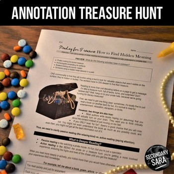 Close Reading Treasure Hunt: 4-Day Annotation Crash Course for ANY Text!