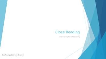 Close Reading Tutorial