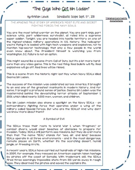 Close Reading-Two Articles with Common Core Questions