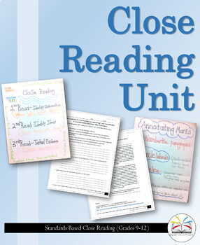 Close Reading Unit (Grades 9-12): The Last Diary Entry of John Wilkes Booth