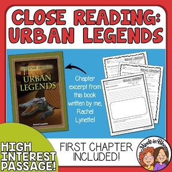 Close Reading - Urban Legends - Authentic Text