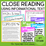 Close Reading Informational Text: 3rd Grade