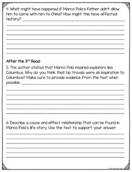 Close Reading Informational Text: 4th and 5th