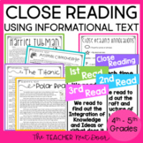 Close Reading Using Informational Text: 4th and 5th | Close Reading