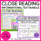 Close Reading Informational Text Bundle for 3rd Grade | Cl