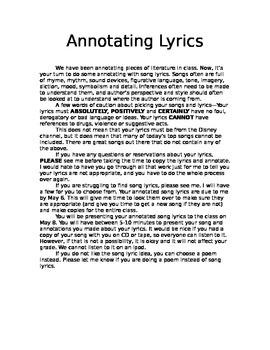 Close Reading Using Song Lyrics