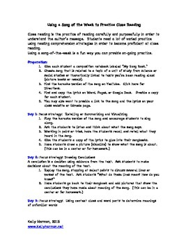 Close Reading: Using Songs to Practice Close Reading