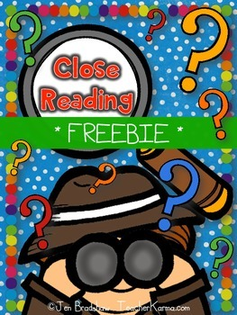 Close Reading Using Text Evidence ~ Comprehension FREEBIE