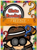 Close Reading, Text Evidence Sentence Starters