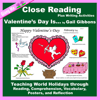 Close Reading: Valentine's Day Is ... by Gail Gibbons