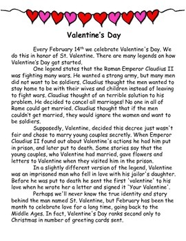 Valentine's Day Close Readings
